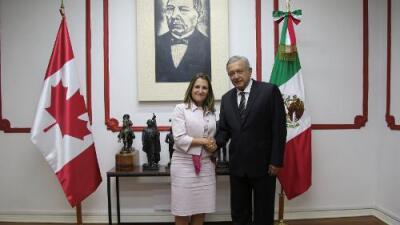 López Obrador y canciller de Canadá afirman que NAFTA debe seguir siendo un pacto de tres