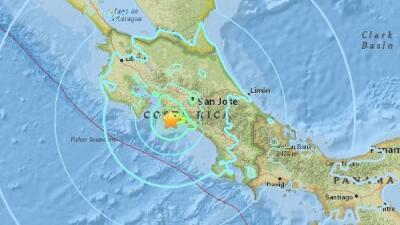 Al menos dos muertos en un sismo de 6.5 en Costa Rica