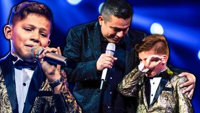 'Canelito' logró lo impensable: hizo llorar a Galilea en el escenario de Pequeños Gigantes