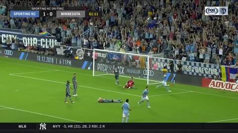 El chileno Diego Rubio la manda a guardar con un increíble zapatazo, Sporting KC 2-0 Minnesota