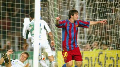 Se cumplen 10 años del primer gol de Leo Messi en la Liga de Campeones