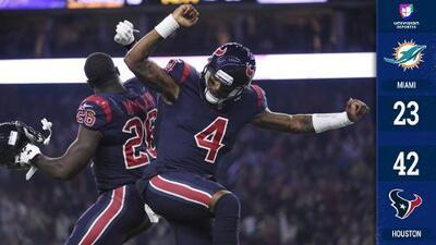 Houston pasó por encima de Miami con cinco pases de touchdown de Deshaun Watson