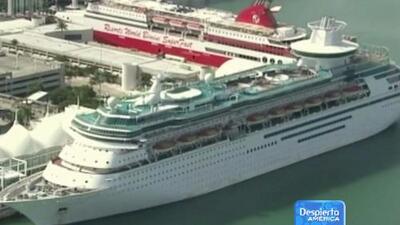 El crucero del Royal Caribbean vuelve a casa tras el brote de enfermos