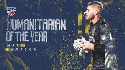 Por segundo año consecutivo, Matt Lampson es reconocido como el Humanitario del Año en MLS