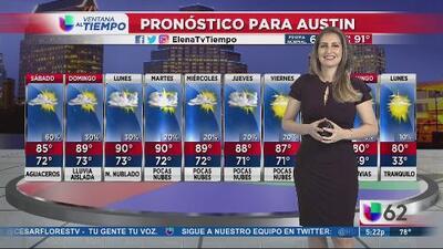 Pronostican lluvias en las próximas horas en Austin