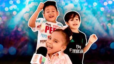 ¡Giovani, Mateo y Beba cantando! Escucha a los capitanes interpretando el tema oficial de Pequeños Gigantes
