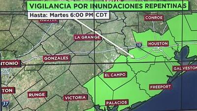 Extienden el tiempo de vigilancia por inundaciones repentinas en varios condados de Texas