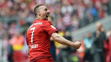 Un golazo espectacular de Ribery da el triunfo al Bayern Munich ante Eintracht Frankfurt