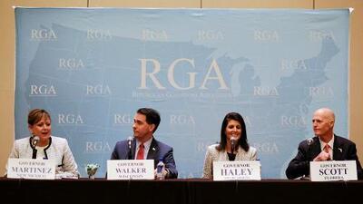 """Gobernadores republicanos celebran tener """"un aliado en la Casa Blanca"""" con Trump"""