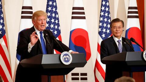 """Trump pide """"a Dios"""" no tener que usar la fuerza militar contra Corea del Norte"""