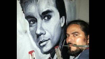 Artista mexicano inmortalizó a Juan Gabriel con un mural en Brooklyn