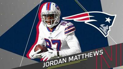 New England firma a Jordan Matthews como reemplazo de Brandin Cooks