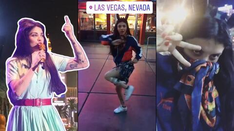 Famosa en Las Vegas cumple el primero de varios retos, si acaba la lista terminará casada