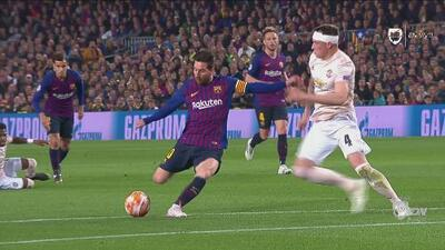 ¡La noche de Lio Messi! Las dos obras de arte con las que tiene ganando al Barça ante el United
