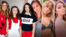 Andrea Legarreta con Mía y Nina y otras madres e hijas del mundo del espectáculo que son igualitas