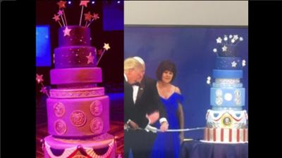 Suena increíble, pero el pastel de la inauguración de Trump es una copia del de Obama