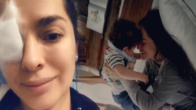 """Danna García sufre lesión en el ojo por culpa del """"oficio de ser madre"""""""