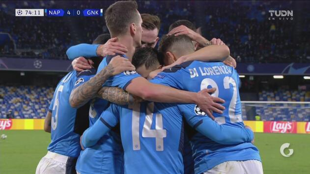 ¡Ya es goleada! Mertens anota el 4-0 del Napoli ante el Genk en Champions