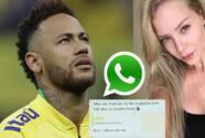 La conversación que Neymar omitió y el último mensaje de voz que le dejó su denunciante