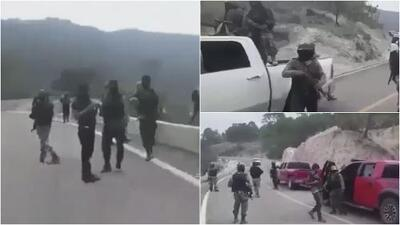 Investigan video de presuntos miembros del Cártel de Jalisco Nueva Generación armados en plena carretera