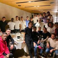 Cena de Navidad del Real Madrid con regalo especial a Bale
