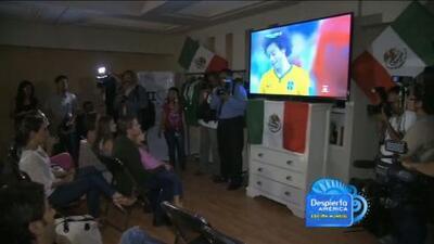 """Los actores de la novela """"Mi Corazón es Tuyo"""" disfrutaron juntos del partido de México"""