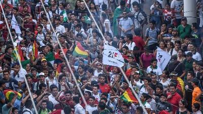 Con multitudinarias movilizaciones, bolivianos buscan evitar que Evo Morales aspire a una nueva reelección