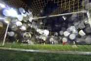 Legia's Aleksandar Prijovic, center, celebrates after scoring during the Champions League Group F soccer match between Borussia Dortmund and Legia Warsaw in Dortmund, Germany, Tuesday, Nov. 22, 2016. (AP Photo/Martin Meissner)