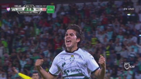 Golazo de Ulises Rivas puso a Santos en cuartos de Copa MX