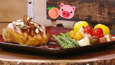 Esta receta de medallones de cerdo en salsa de melocotón le hizo agua la boca a Karla