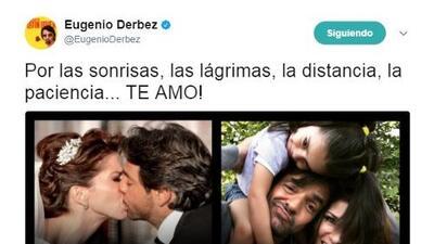 Eugenio Derbez y Alessandra Rosaldo festejan su quinto aniversario de bodas