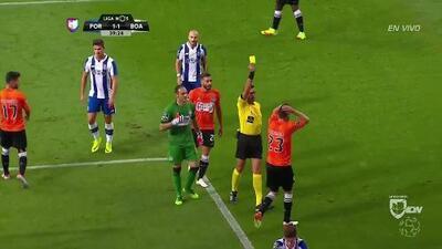 Tarjeta amarilla. El árbitro amonesta a Nuno Henrique Goncalves Nogueira de Boavista