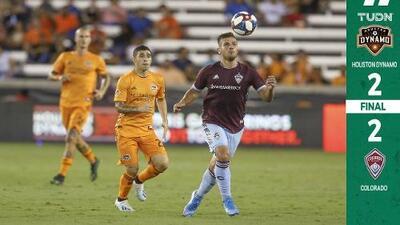 Doblete del colombiano Mauro Manotas salvó a Houston de caer ante el par del chileno Diego Rubio