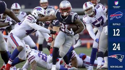 Patriots vencen a Bills y se llevan el título de la AFC Este por décimo año consecutivo