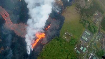 En fotos: La lava del volcán Kilauea de Hawaii se acerca  a una planta geotérmica