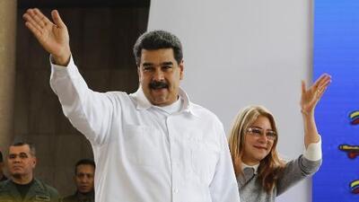 """Nicolás Maduro tilda de """"cobarde"""" al gobierno de Trump por sancionar a su esposa Cilia Flores"""