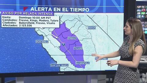 California permanece bajo advertencia por fuertes vientos y una helada intensa
