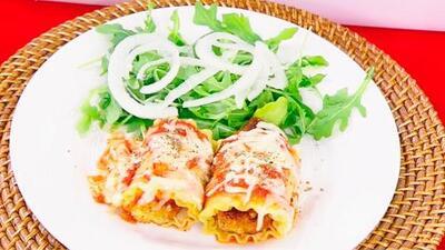 Sorprende a tus invitados con este delicioso plato de rollos de lasaña de pollo