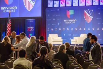 En fotos: Así se prepara el evento donde varios candidatos demócratas discutirán sobre el futuro de los latinos