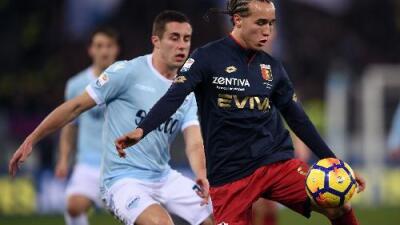 Génova le gana al Lazio de último minuto