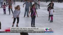 Abre pista de hielo del parque Discovery Green
