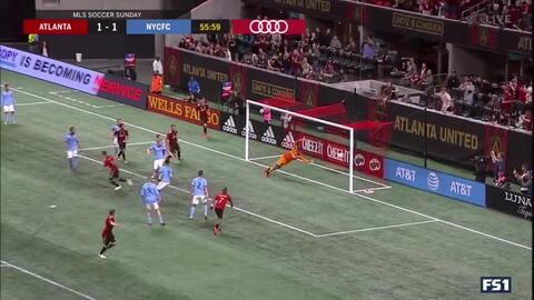 Un imparable Miguel Almirón sirve el segundo gol de Atlanta anotado por Chris McCann