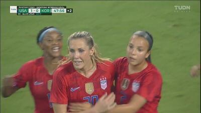 ¡Gol de Estados Unidos! Allie Long rompe el cero ante Corea del Sur
