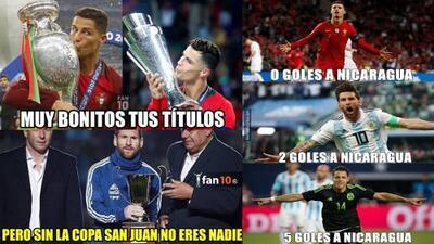Memelogía: Cristiano Ronaldo gana con Portugal y las burlas son para Messi... ¡Y Chicharito!