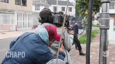 Se desata de nuevo la guerra, detrás de cámaras del capítulo 10, segunda temporada de 'El Chapo'