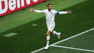Cristiano Ronaldo, con un cabezazo perfecto, abre el marcador 1-0 ante Marruecos