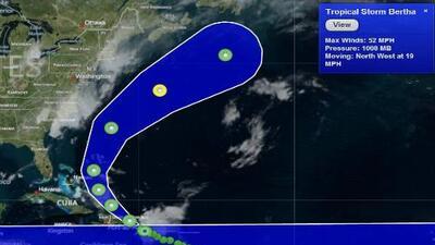 Avanza la tormenta tropical Bertha por aguas del Caribe