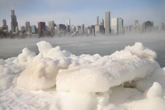 Lo que dejó la ola de frío polar en Chicago