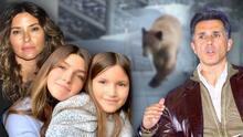 OMG: Issabela Camil y sus hijas tuvieron un encuentro cercano con un oso (Sergio Mayer se salvó)
