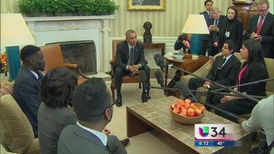 Obama se reúne en la Casa Blanca dreamers
